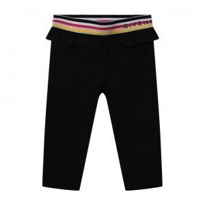 Хлопковые леггинсы Givenchy. Цвет: чёрный