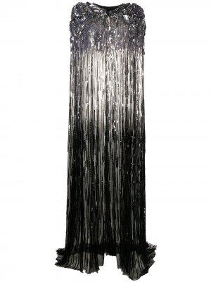 Длинный кейп с пайетками Jenny Packham. Цвет: черный