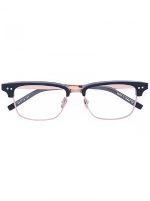 Очки в прямоугольной оправе Dita Eyewear. Цвет: чёрный