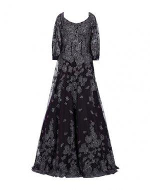 Длинное платье JOVANI. Цвет: темно-фиолетовый
