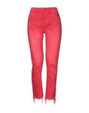 Джинсовые брюки HUDSON. Цвет: красный