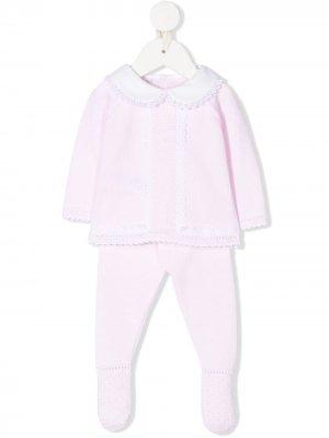 Комплект из ползунков и рубашки Paz Rodriguez. Цвет: розовый