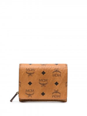 Бумажник с монограммой MCM. Цвет: коричневый
