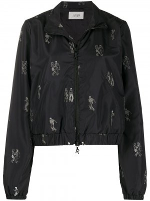 Куртка-бомбер с принтом Kirin. Цвет: черный