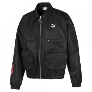 Бомбер Statement Jacket PUMA. Цвет: черный
