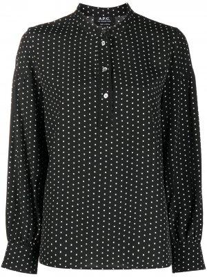 Блузка свободного кроя в горох A.P.C.. Цвет: черный