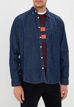 Рубашка джинсовая Gap. Цвет: синий