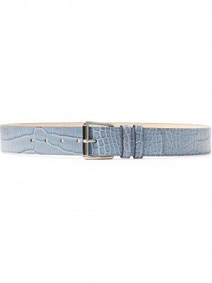 Archer croc-effect belt Jimmy Choo. Цвет: синий