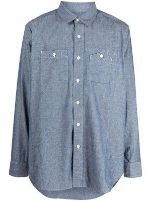 Рубашка с удлиненными рукавами Engineered Garments. Цвет: синий