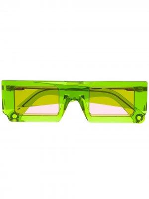 Солнцезащитные очки Soleil в квадратной оправе Jacquemus. Цвет: зеленый