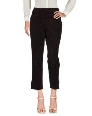 Повседневные брюки CLIPS MORE. Цвет: темно-коричневый