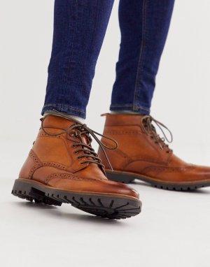 Светло-коричневые ботинки броги Bower-Светло-коричневый Base London