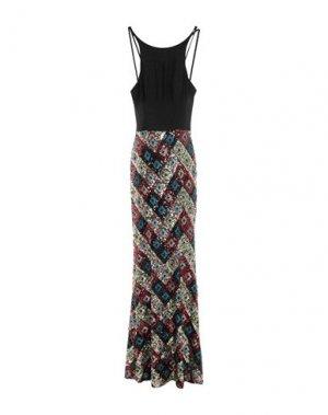 Длинное платье GLAMOUR. Цвет: черный