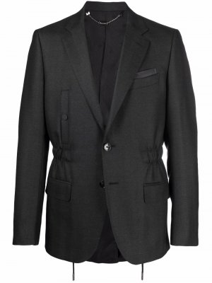 Однобортный пиджак Billionaire. Цвет: серый