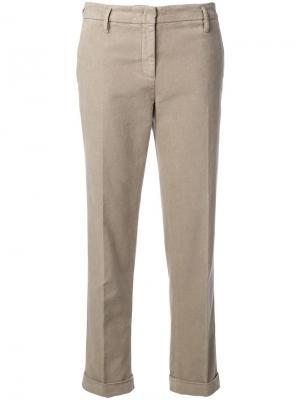 Укороченные брюки Aspesi. Цвет: бежевый