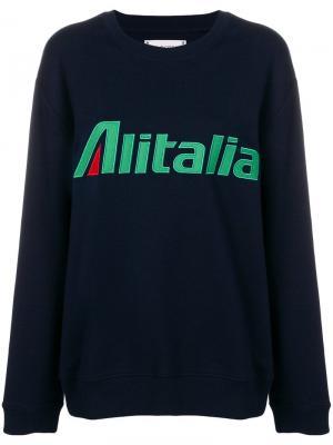 Толстовка Alitalia Alberta Ferretti. Цвет: синий