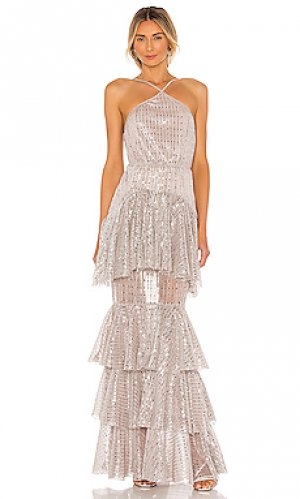 Вечернее платье shirley Michael Costello. Цвет: blush,metallic silver