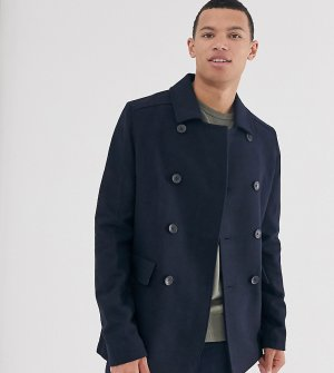 Пальто-бушлат с добавлением шерсти Tall-Темно-синий French Connection