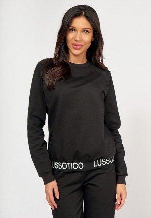 Свитшот Lussotico. Цвет: черный