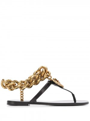 Сандалии Devotion с цепочкой Dolce & Gabbana. Цвет: черный