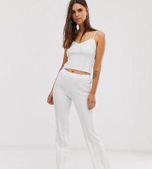 Расклешенные брюки в рубчик из комплекта -Белый Micha Lounge