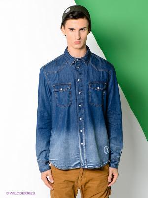 Рубашка Boom Bap Wear. Цвет: синий
