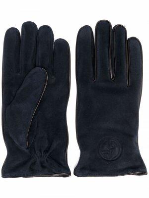 Кашемировые перчатки Giorgio Armani. Цвет: синий