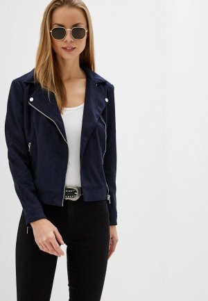 Куртка кожаная Dorothy Perkins. Цвет: синий
