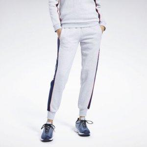 Спортивные брюки Classics Linear Fleece Reebok. Цвет: light grey heather