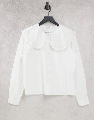 Белая рубашка с большим воротником -Белый JDY