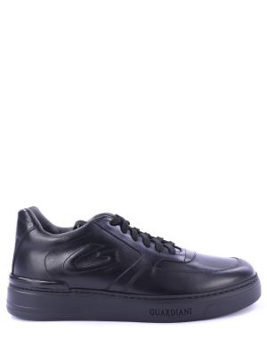 Кожаные кроссовки Italis Alberto Guardiani. Цвет: черный