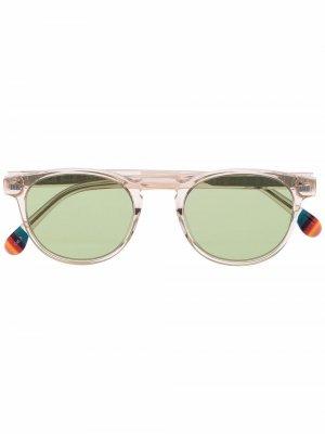 Солнцезащитные очки Darwin Crystal в круглой оправе PAUL SMITH. Цвет: нейтральные цвета