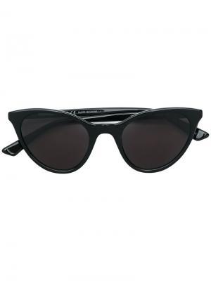 Солнцезащитные очки в круглой оправе McQ Alexander McQueen. Цвет: черный