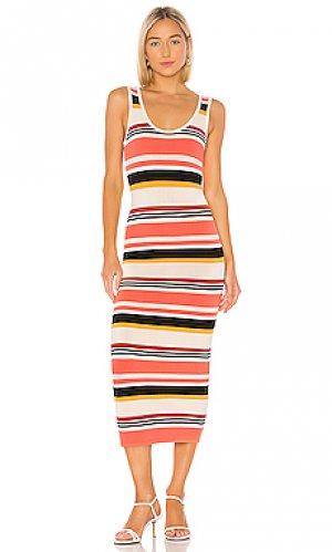 Платье миди latrice Ronny Kobo. Цвет: оранжевый