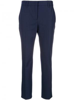 Cropped tailored trousers Prada. Цвет: синий