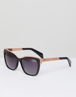 Солнцезащитные очки кошачий глаз tb1482 001 darcy Ted Baker. Цвет: черный
