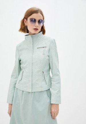 Куртка кожаная Gerry Weber. Цвет: бирюзовый
