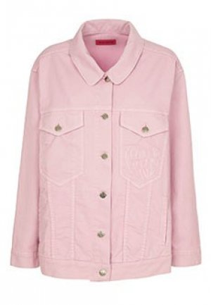 Джинсовая куртка IRENEISGOOD. Цвет: розовый