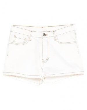 Джинсовые шорты DIXIE. Цвет: белый
