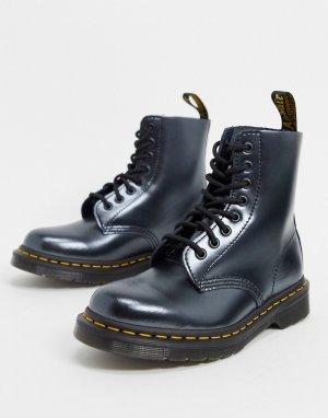 Серебристые ботинки с 8 парами люверсов 1460-Серебряный Dr Martens