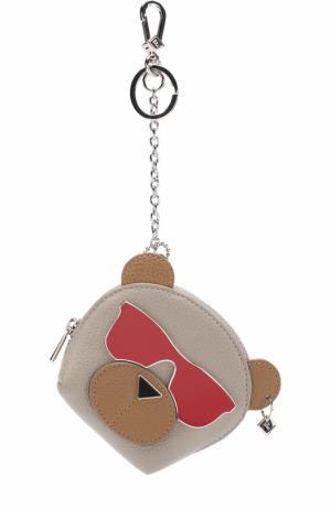 Кожаный футляр для ключей Toni Dolomia Furla. Цвет: бежевый