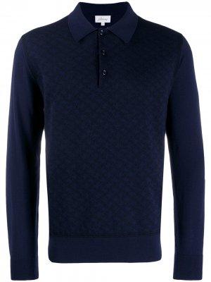 Трикотажная рубашка-поло Brioni. Цвет: синий