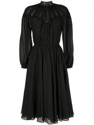 Платье-рубашка с длинными рукавами CK Calvin Klein. Цвет: черный