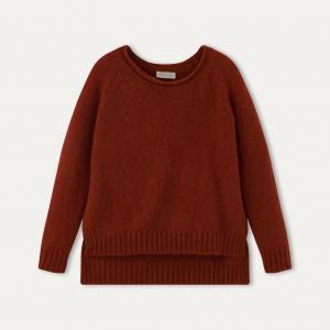Пуловер ZIN MOMONI. Цвет: кирпичный