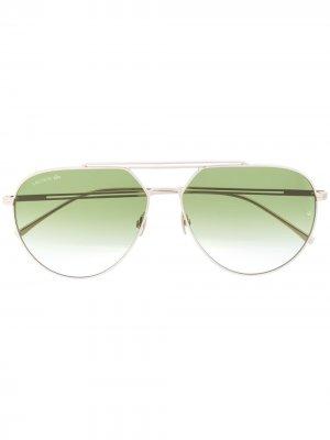 Солнцезащитные очки-авиаторы Lacoste. Цвет: золотистый