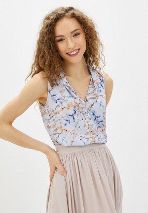 Блуза Imago. Цвет: голубой
