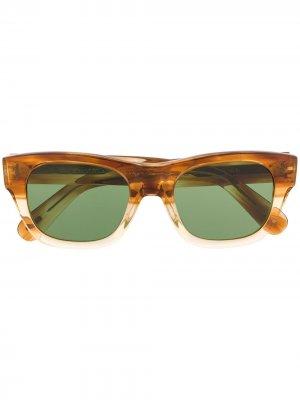 Солнцезащитные очки Keenan в квадратной оправе Oliver Peoples. Цвет: коричневый