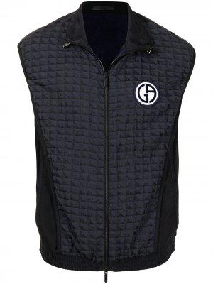 Жилет на молнии с нашивкой-логотипом Giorgio Armani. Цвет: черный