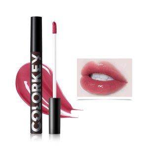 Блестящий блеск для губ P710 SHEIN. Цвет: пыльный розовый