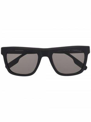 Солнцезащитные очки в массивной оправе Montblanc. Цвет: черный